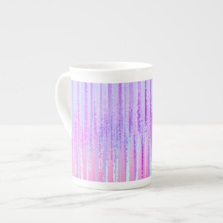 Stain Glass Effect Abstract Striped Colorful Print Tea Cup