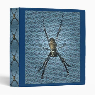 Stain Glass effect Tree Spiders Binder