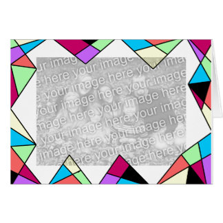 Stain glass frame card