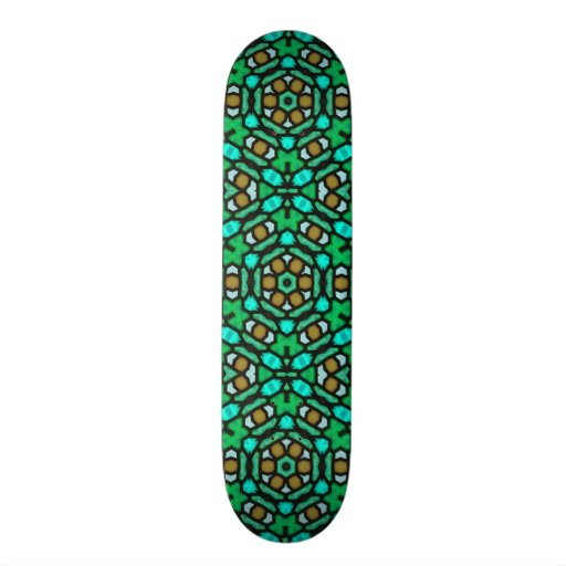 Stain Glass Kaleidoscope Abstract Skate Board Decks