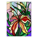 Stain Glass Lily Card Greeting Card