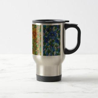 Stain Glass Mug. (Travel) 15 Oz Stainless Steel Travel Mug