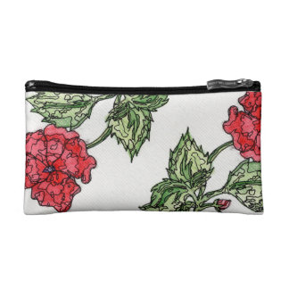 Stain Glass Petunia Cosmetic Case