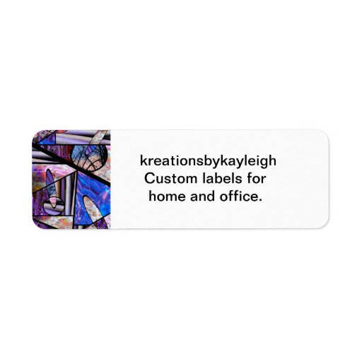 Stain Glass  Photo Collage Label