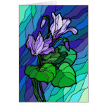Stain Glass Purple Flower Card
