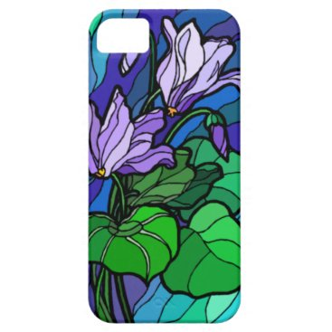 Stain Glass Purple Flower iPhone 5G Case