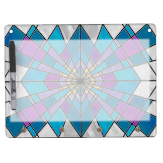 Stain Glass Ray Blue and Purple Dry Erase Board With Keychain Holder