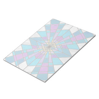 Stain Glass Ray Blue and Purple Notepad