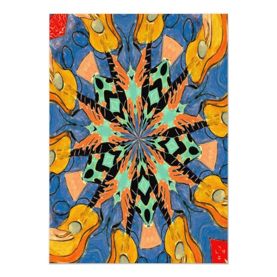 Stain Glass Style Guitars Abstract Card
