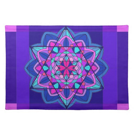 Stained glass placemats stained glass place mats for Glass table placemats