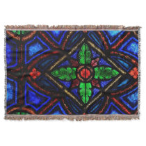 Stain Glass Throw Blanket