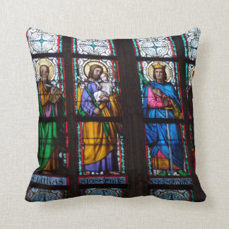 Stain Glass Throw Pillow