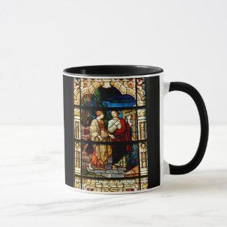 Stain Glass Window At Church Mug