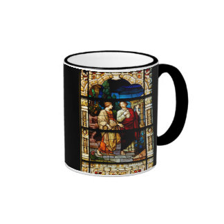 Stain Glass Window At Church Ringer Mug