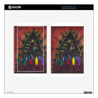 stain glass window kindle fire decals