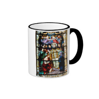 stain glass window ringer mug