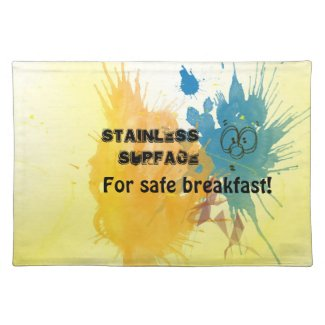 Stain with Face Placemats