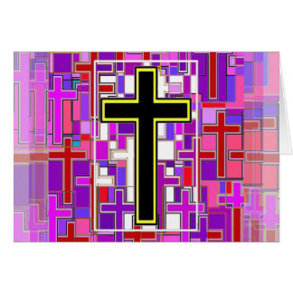 Staind Glass Cross Perspective. Card