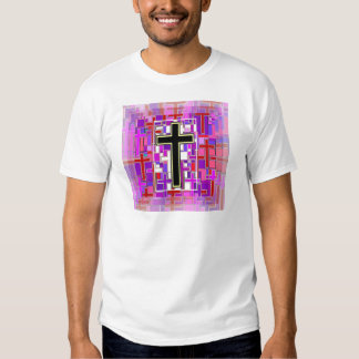 Staind Glass Cross Perspective. T-shirt