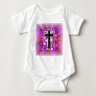 Staind Glass Cross Perspective. T Shirt