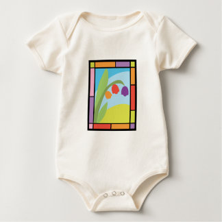 Staind Glass Tulips Baby Creeper