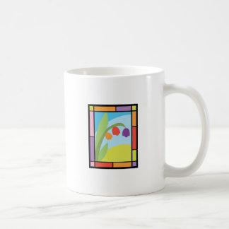 Staind Glass Tulips Classic White Coffee Mug