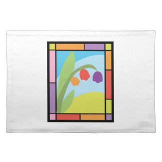 Staind Glass Tulips Cloth Place Mat