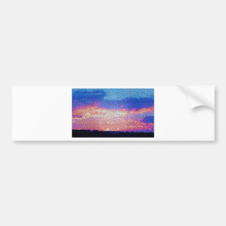 Stainded Glass of Sunset Car Bumper Sticker