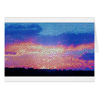 Stainded Glass of Sunset Card