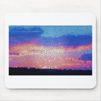 Stainded Glass of Sunset Mouse Pad