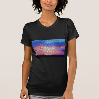 Stainded Glass of Sunset Tee Shirt