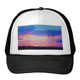 Stainded Glass of Sunset Trucker Hat