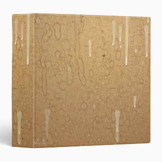 Stained Brown Paper Avery Binder
