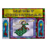 Stained Christmas Angel Greeting Cards