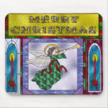Stained Christmas Angel Mousepads
