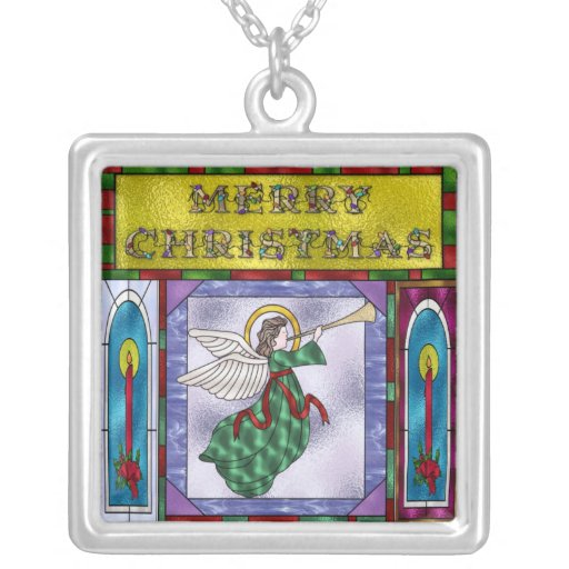 Stained Christmas Angel Pendant
