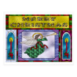 Stained Christmas Angel Post Cards