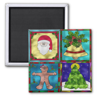 Stained Christmas Goodies Magnets