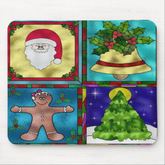 Stained Christmas Goodies Mouse Pads