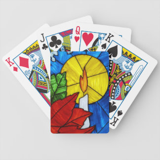 Stained Class Candle Playing Cards