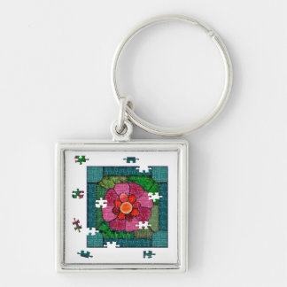 Stained Flower Knell Keychain