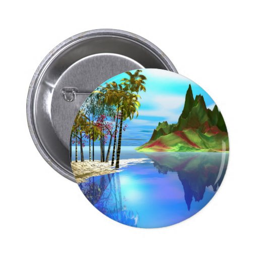 Stained Glass 2 Inch Round Button