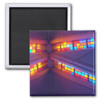 Stained glass 2 inch square magnet