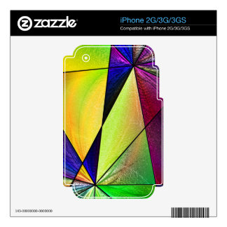 Stained Glass 5 Decal For iPhone 3GS