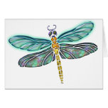 Stained Glass & Abalone Shell Dragonfly Greeting Cards