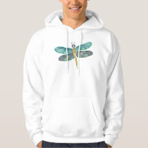 Stained Glass & Abalone Shell Dragonfly Hoodie