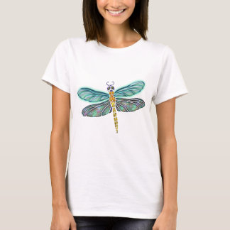 Stained Glass & Abalone Shell Dragonfly T-Shirt