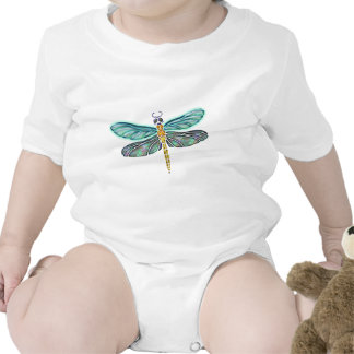 Stained Glass & Abalone Shell Dragonfly Baby Bodysuits