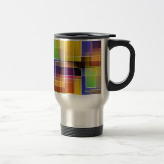 Stained glass abastract travel mug