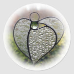 """Stained glass abstract """"Angel heart"""" sticker"""